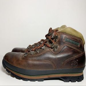 Timberland Dark Brown Leather Lace Up Ankle Boots